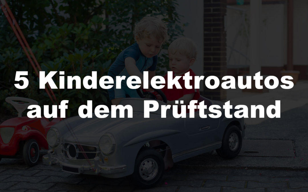 5 coole Kinderelektroautos