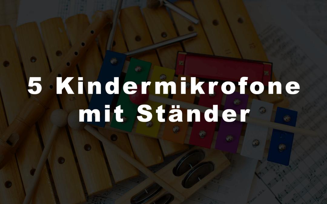 5 Kindermikrofone mit Ständer
