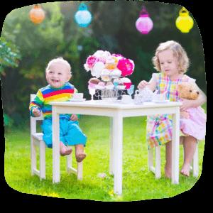 Kinderparty im Garten