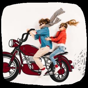 Illustriertes Kindermotorrad
