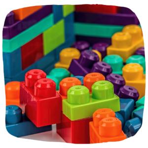 bunte Lego Steine