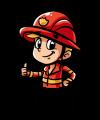 Kleine Feuerwehrleute